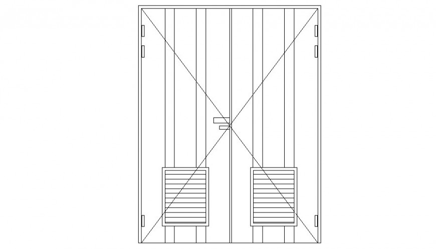 Door units elevation drawing 2d view in autocad software