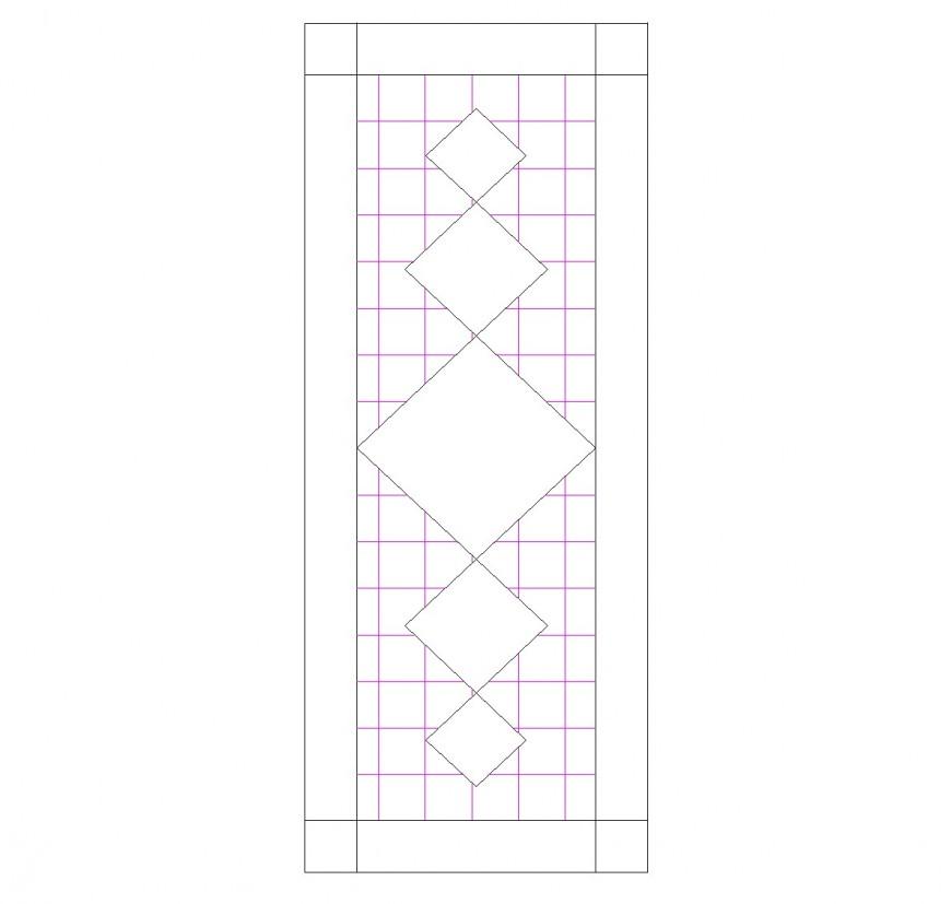 Door wooden elevation plan layout file