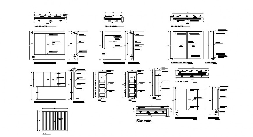 Door And Window View With Its Schedule For House Plan Dwg