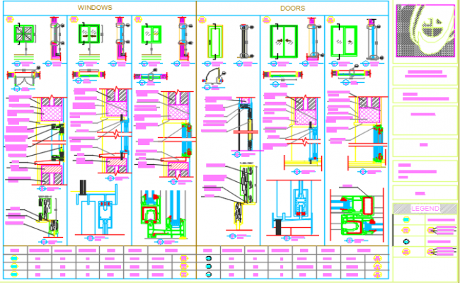 doors and windows dwg file