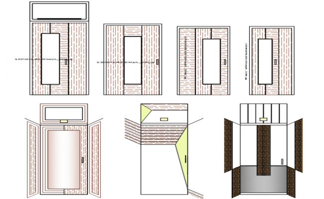 doors elevation design dwg file