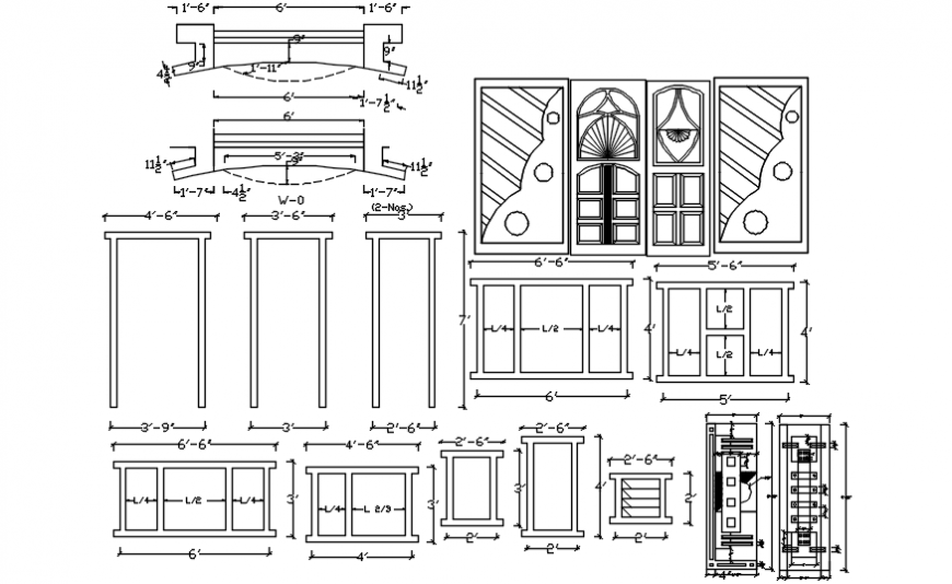 Doors and windows detailing dwg file