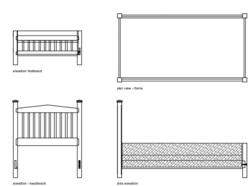 Double bed design 2d