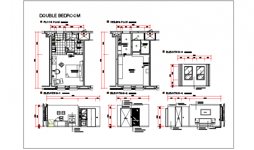 Double Bed room design  Hotel room project design