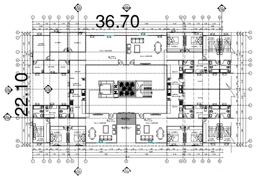 Drawing details of housing apartment bungalow dwg autocad file