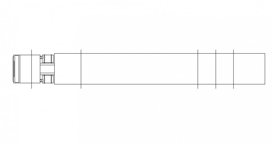 Drawing elevation of truck 2d view in autocad software