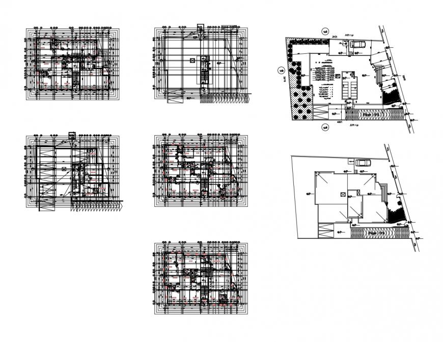 Drawing of 2d apartment design block AutoCAD file