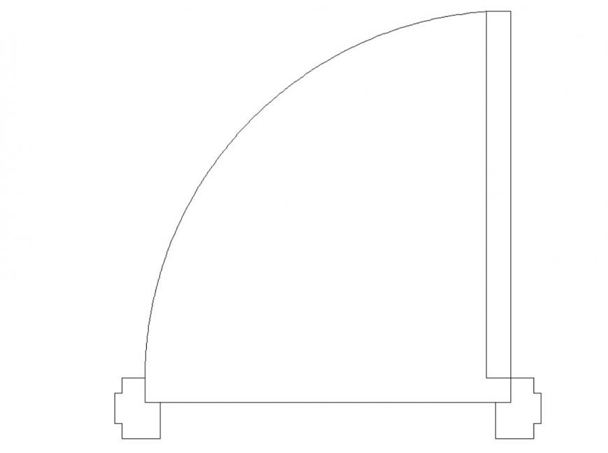 Drawing of 2d door plan block autocad file..