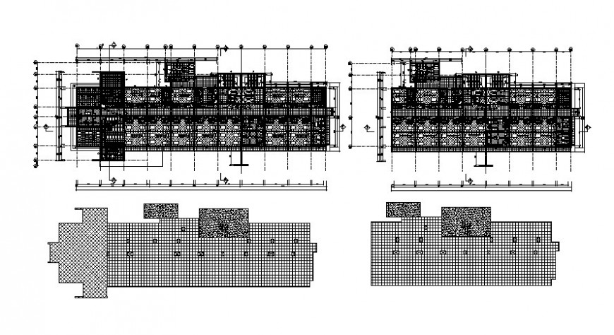 Drawing of 2d hospital building AutoCAD file