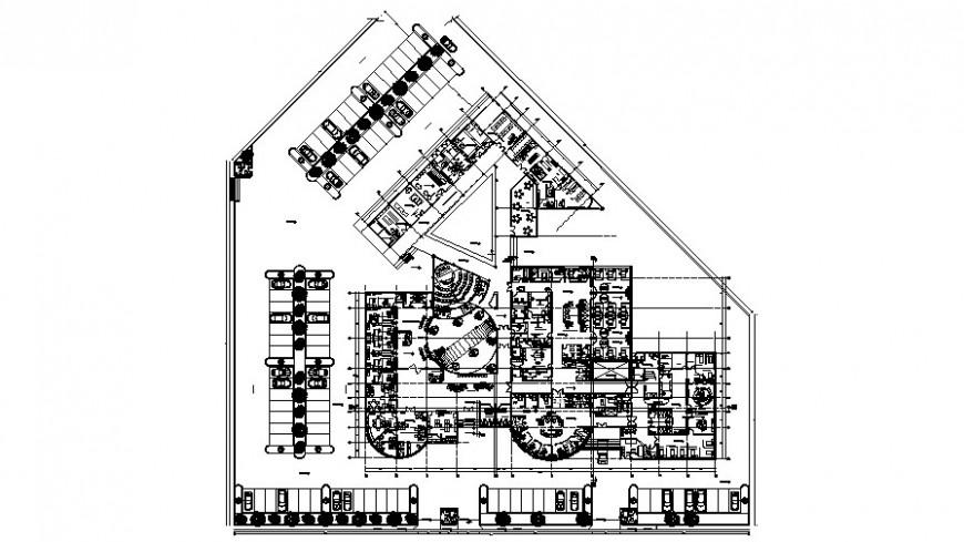 Drawing of 2d hospital design AutoCAD file