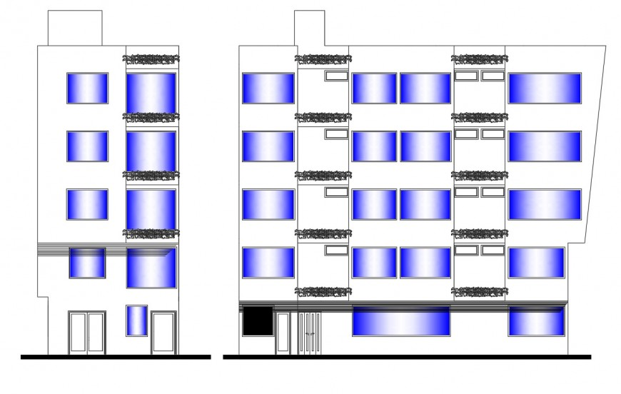 Drawing of 3-star hotel 2d details AutoCAD file