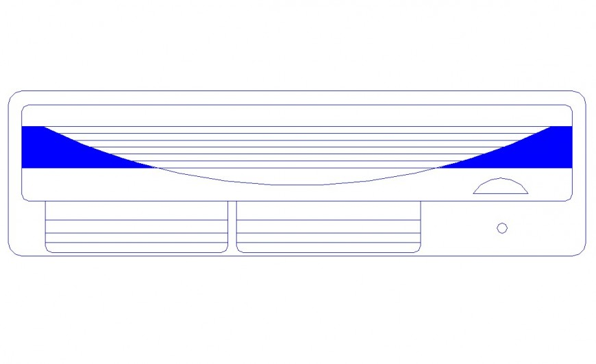 Drawing of ac block AutoCAD file