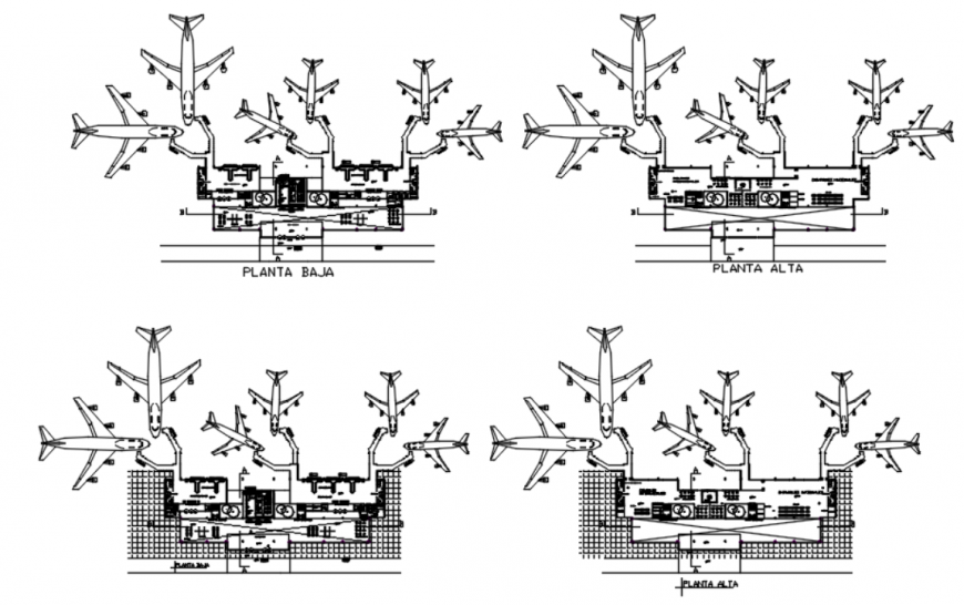 Drawing of airport detail AutoCAD file which