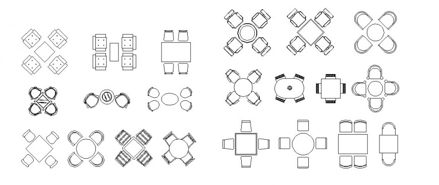 Drawing of all type table furniture block AutoCAD file