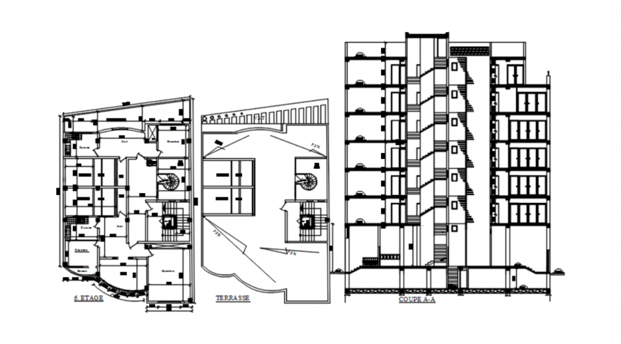 Drawing of apartment-commercial detail AutoCAD files