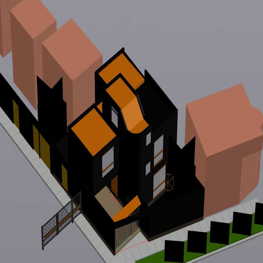 drawing of apartment in dwg file.