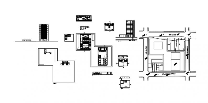 Drawing of auditorium AutoCAD file