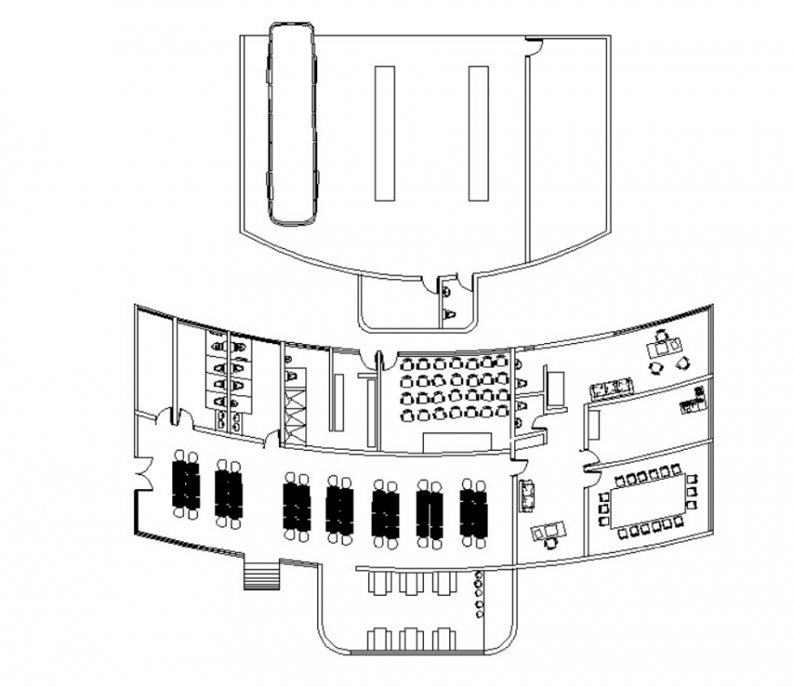 Drawing of bus terminal 2d details AutoCAD file