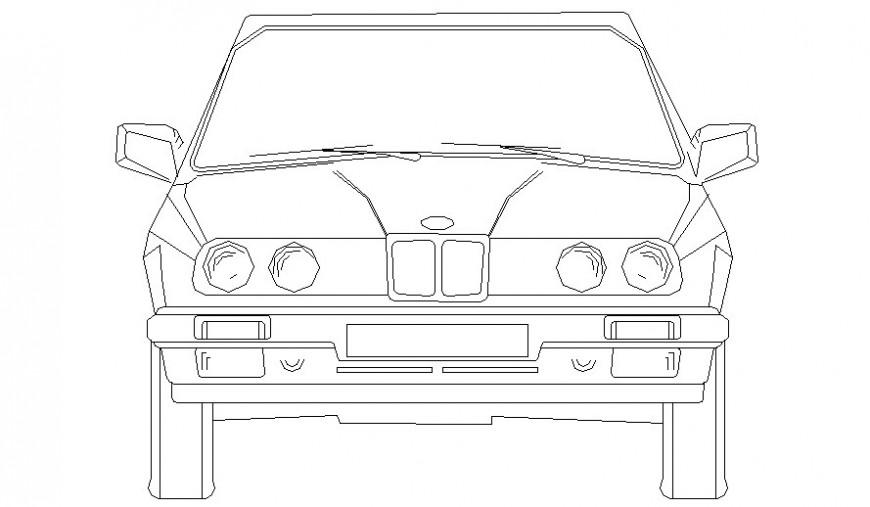 Drawing of car transportation units autocad file