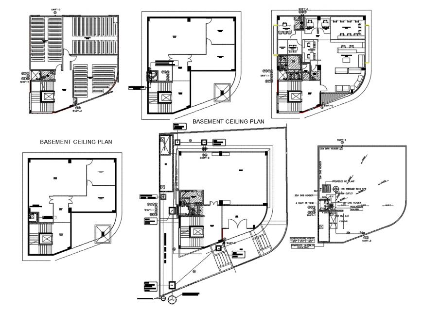 Drawing of classes design 2d details AutoCAD file