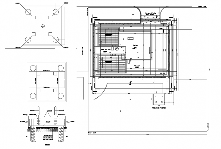 Drawing of commercial building 2d design AutoCAD file