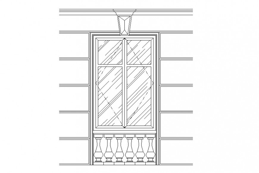 Drawing of decorative window AutoCAD file