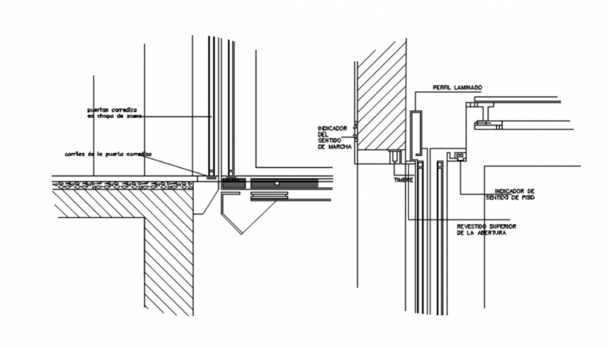 drawing of elevator detail AutoCAD file