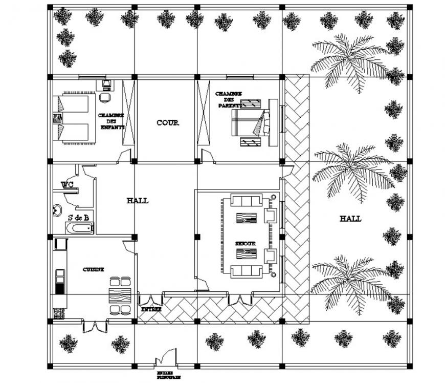Drawing of floor block AutoCAD file