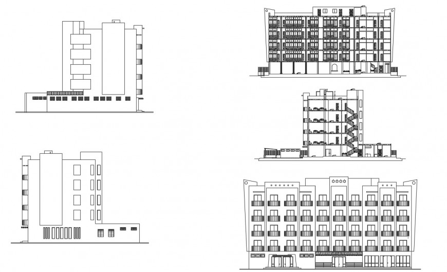 Drawing of four-star hotel 2d details AutoCAD file