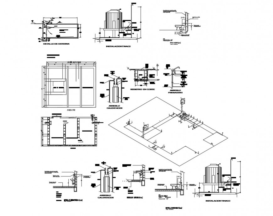 Drawing of health center 2d details AutoCAD file