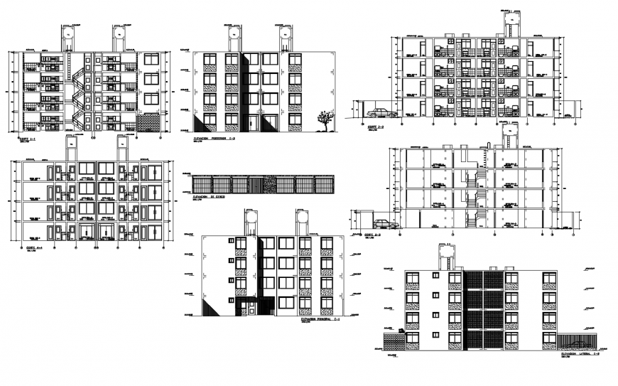 Drawing of high rise building AutoCAD file