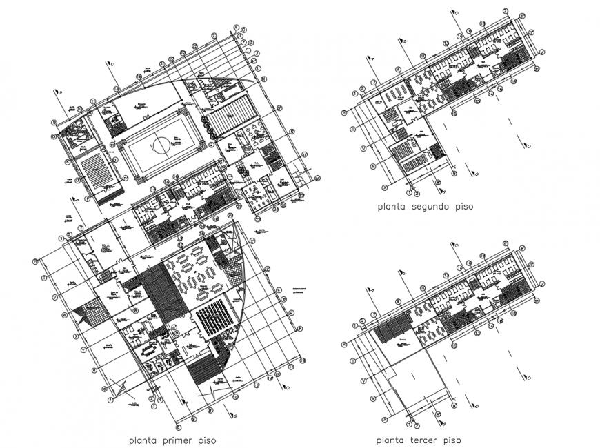 Drawing of hostel design 2d model AutoCAD file
