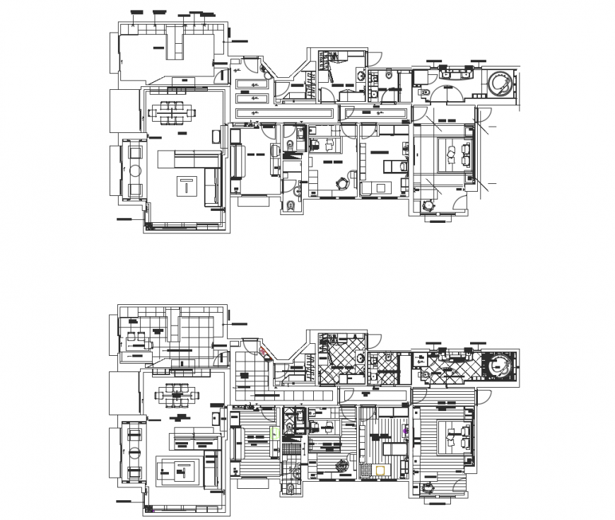 Drawing of house interior 2d details AutoCAD file