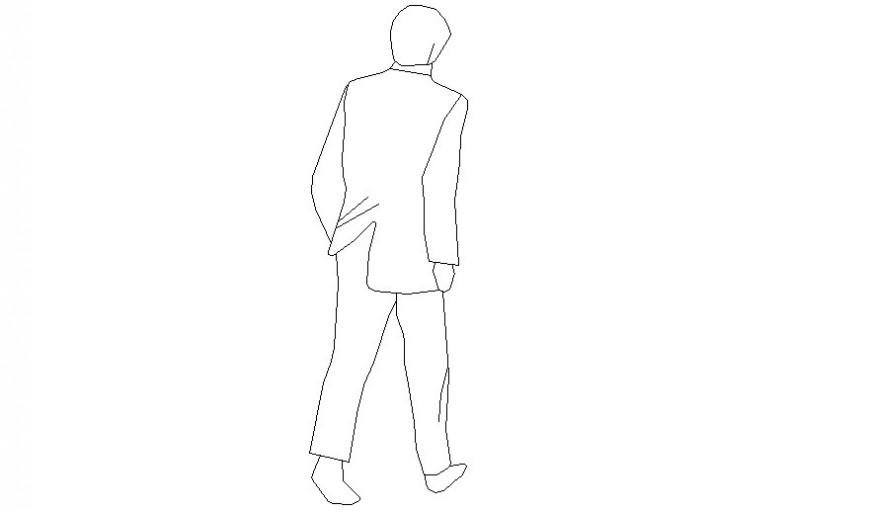 Drawing of human figure cad 2d block autocad file