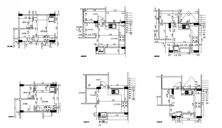 Drawing of kitchen 2d unit block AutoCAD file