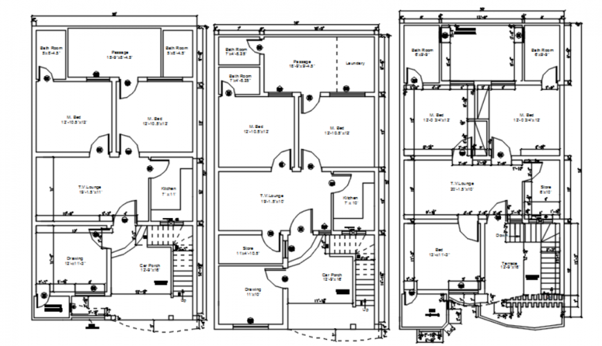 Drawing of marla final house 2d detail AutoCAD file
