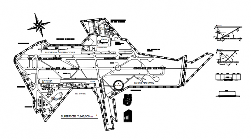 Drawing of Mexico city airport detail AutoCAD file