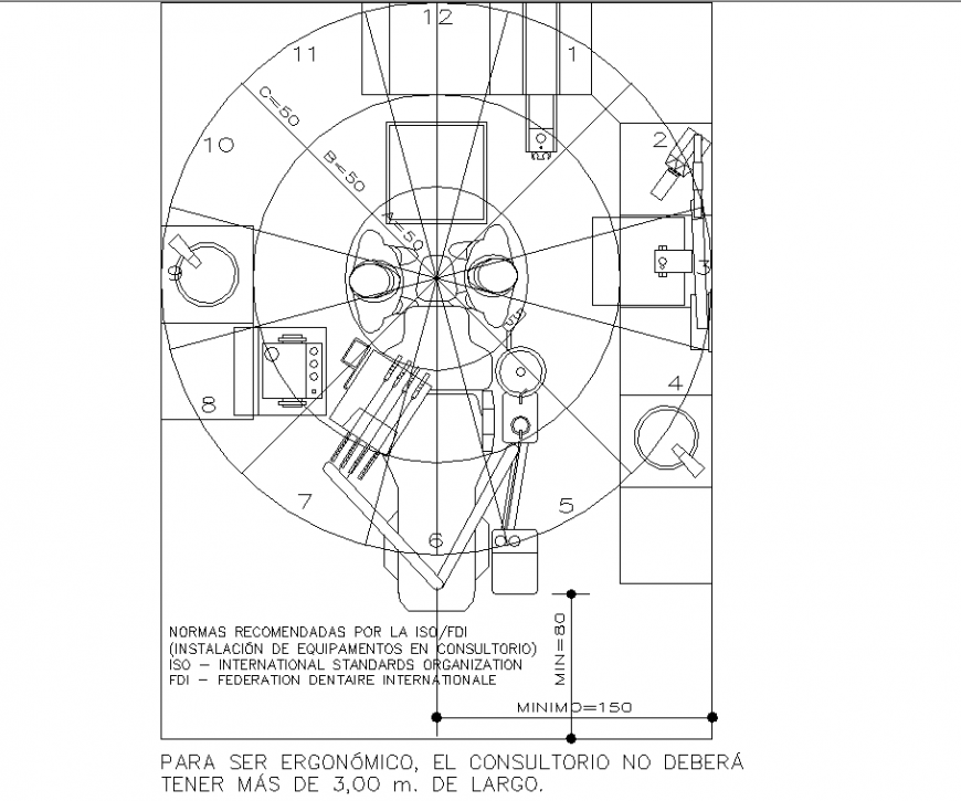 Drawing of operation theatre room in dwg file.