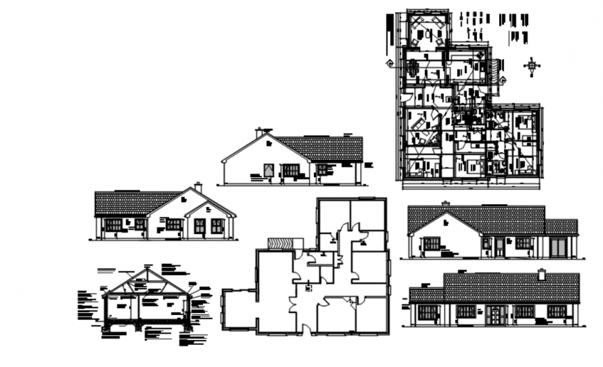 Drawing of residential house block AutoCAD file
