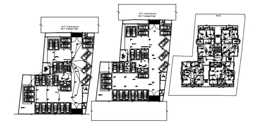 residential electrical diagram detail drawing in dwg