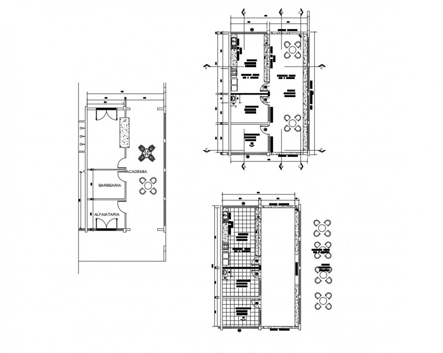 Drawing of restaurant kitchen dining 2d blocks AutoCAD file