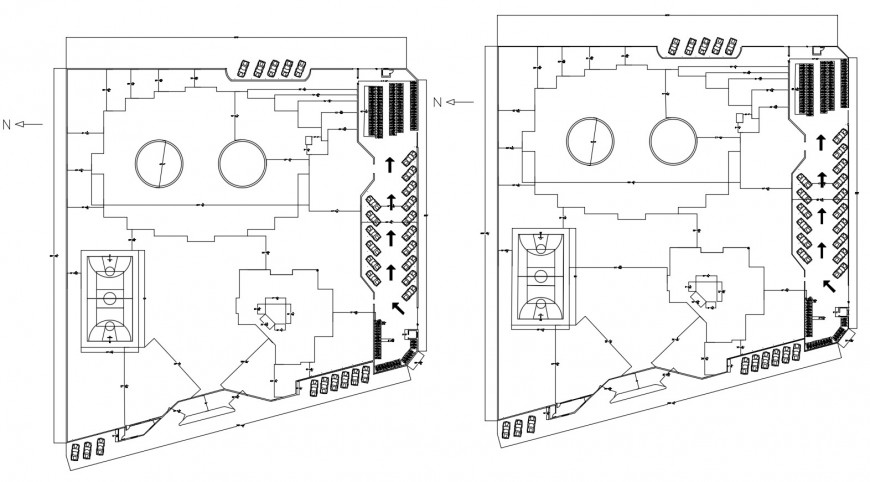 Drawing of school project model details AutoCAD file
