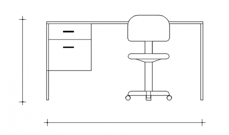 Drawing of table and chairs 2d details autocad file
