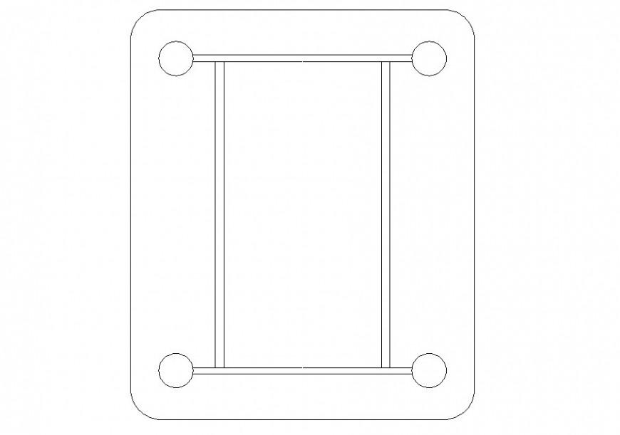 Drawing of table furniture block autocad file