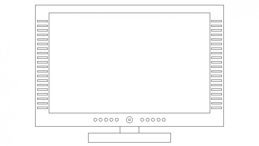 Drawing of television units 2d view in autocad drawing