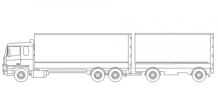 Drawing of the truck with two trolly block