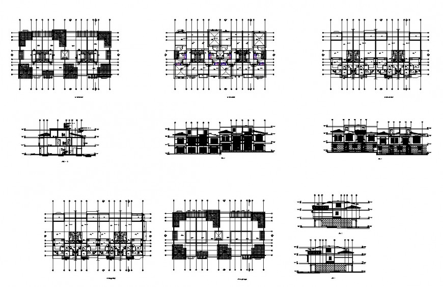 drawing of townhouse details AutoCAD file