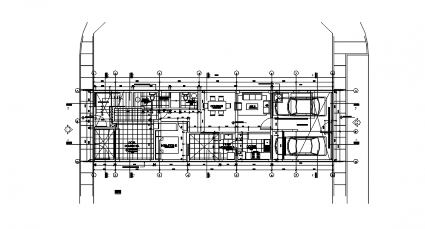 Drawing of urban house plan AutoCAD file
