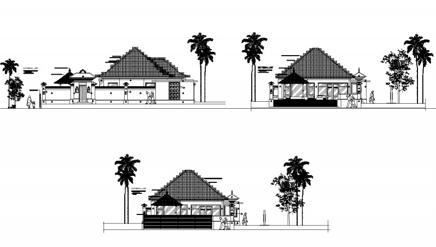 Drawing of villa blocks AutoCAD file