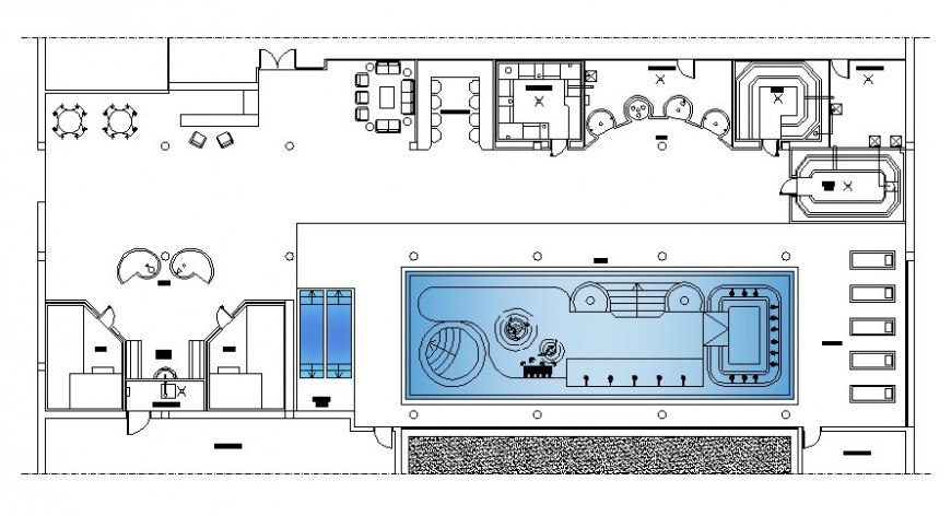 Drawing of wellness center 2d model AutoCAD file